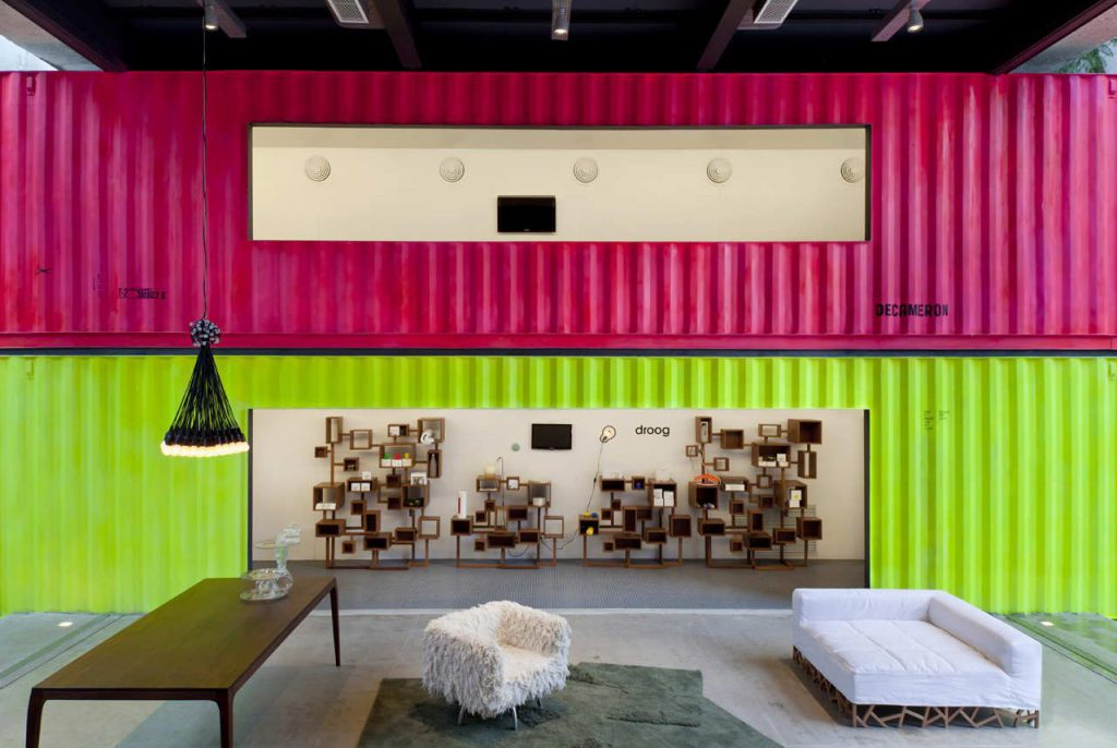 Bright container walls