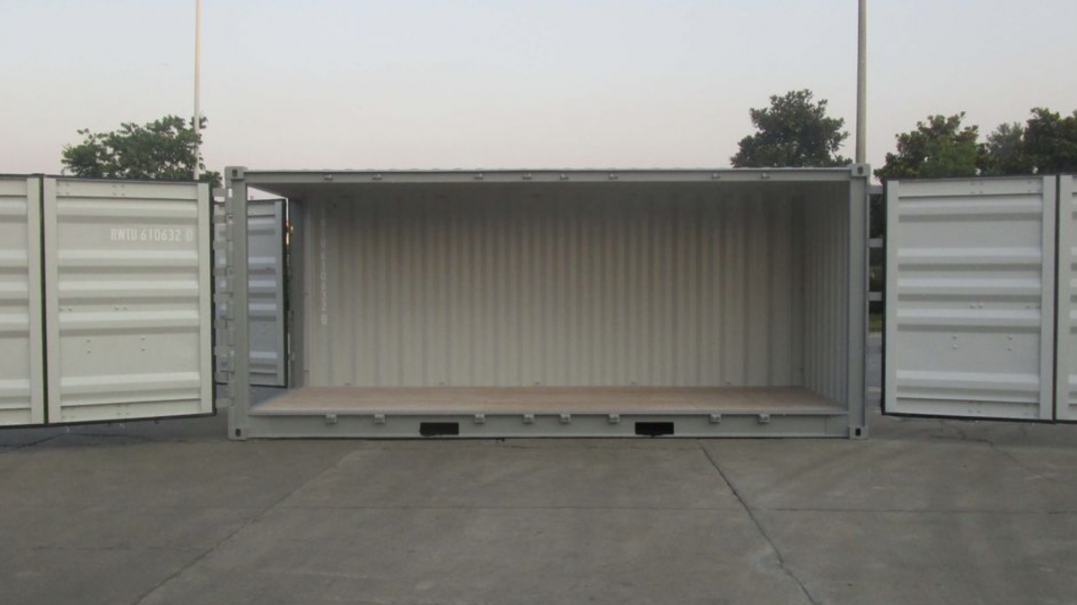 Open Side or side opening shipping containers
