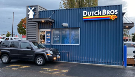 Dutch Bros shipping container coffee shop