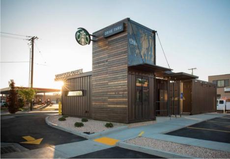 Starbucks Shipping container restaurant