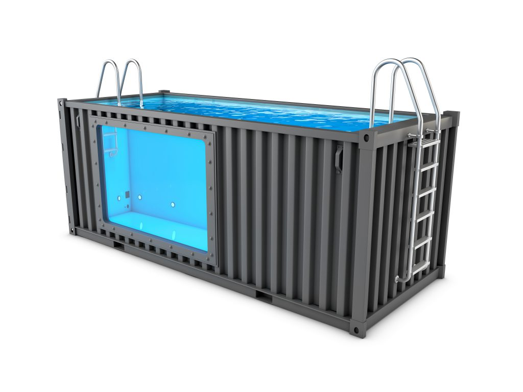 how to install a shipping container pool