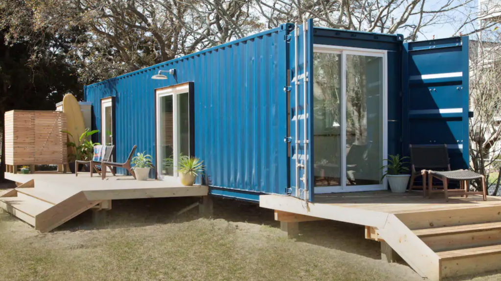 shipping container airbnb, North Carolina