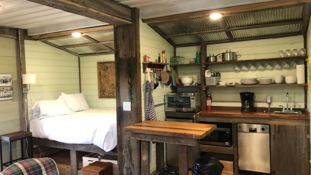 shipping container farmhouse airbnb