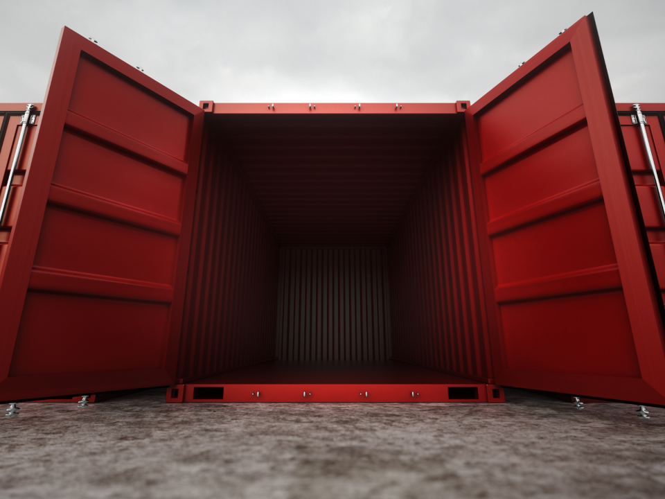 shipping container foundation